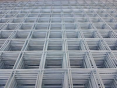 Welded Mesh Sheets Galvanised 100x100x4mm 1200x2000mm Sheets Qty5