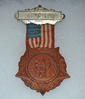 VINTAGE 1886 F.C. L. Ladies of the Grand Army of the Republic Civil War Medal