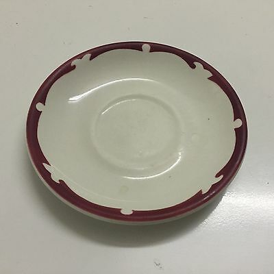 Maddock Ultra Vitrified England Vintage Red Seriff Saucer