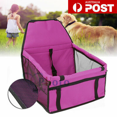 Portable Pet Dog Cat Puppy Carrier Car Seat Soft Crate Safety Travel Bag Booster