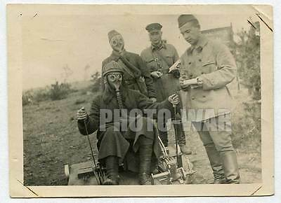 Red Army Panzer Tank or armored car crew in training original photo