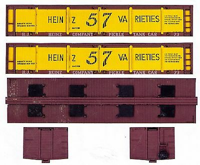 HEINZ PICKLE CAR wood-era TT scale printed sides, ends, roof