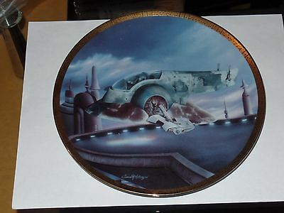 Hamilton Star Wars Space Vehicle's The Slave 1 Collector Plate #4409A Boba Fett