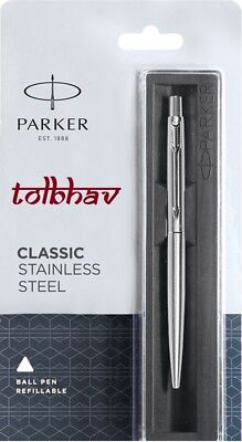 PARKER CLASSIC STAINLESS STEEL CT BALL POINT PEN 100/%ORIGINAL BLISTER SEALED
