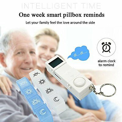 CozyCabin Digital Pill Box Timer Reminder 7 day Travel Container Dispenser New