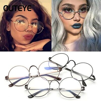 Korean Style Nerd Spectacles Eyeglass Metal Frame Clear Round Lens Glasses GN