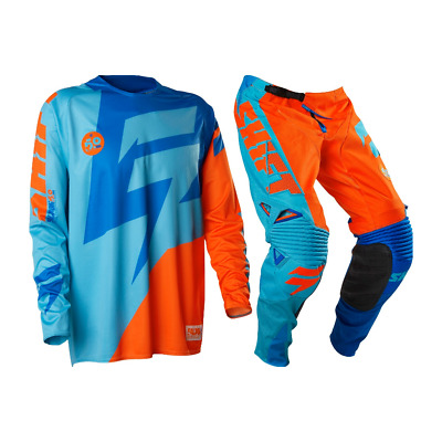 Shift Faction 2016 Mx Motocross Jersey Pants Orange Blue Xxl/38