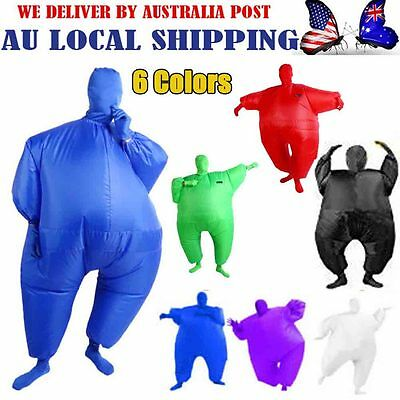 6 Color Fan Operated Inflatable Fancy Chub Fat Masked Suit Costume Blow Up Dress