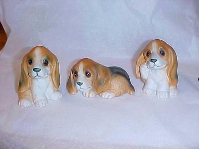 CUTE CERAMIC LITTER OF BEAGLE DOGS PUPPIES Great for Beagle Lover  HOMCO 1407