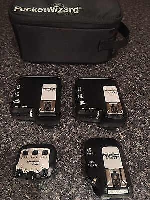 PocketWizard kit for Canon - TT1, AC-3, 2x TT5 and a pouch - in great condition