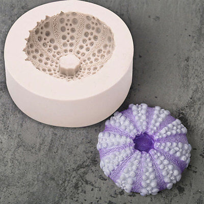 3D Undersea Round Shell Silicone Cake Mould Fimo Baking Craft DIY Tool