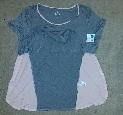 NWT. SZ M telaxed side split tee. perfect for maternity