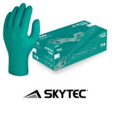 Gloves Disposable Nitrile Green Set 100 Size Large (8.5 - 9) Powder Latex Free