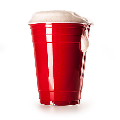 50 Rote Partybecher Party Cups Trinkbecher Red Cups Beer Pong Bier Pong Spaß