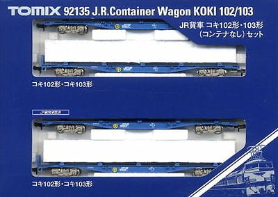 TOMIX 92135 N Scale Gauge Train WAGON JR CONTAINER KOKI 102 103
