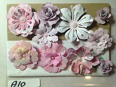 Gorgeous Assorted Packs of Handmade Paper Flower Embellishments
