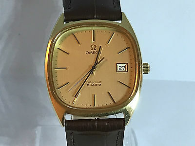 Vintage Omega Men's Quartz Watch cal 1342 on Leather Strap