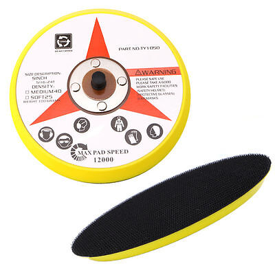 "6"" 150MM Polishing Sander Backer Plate Napping Hook Loop Sanding Disc Pad"