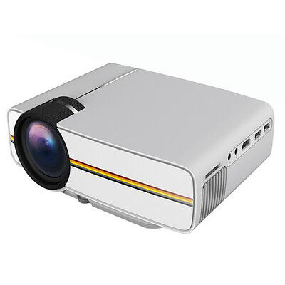 LED Mini  Projector 1200 Luminous 1080P for Home Theater laptop PC Smartphone