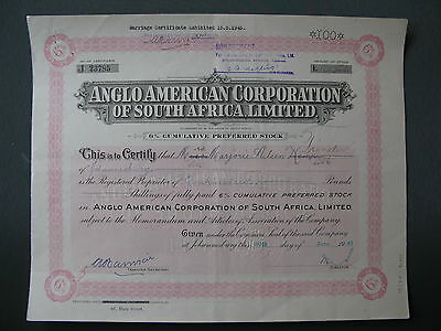 1941 Anglo American corporation of South Africa Limited JOHANNESBURG London UK