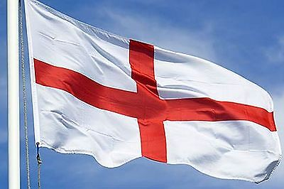 NEW 3x5 ft ENGLAND ST GEORGE'S CROSS UK BRITAIN FLAG WITH BRASS GROMMETS