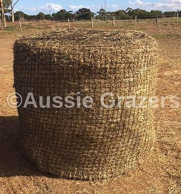 Aussie Grazers - Slow Feeding Hay Nets for Round Bales 4x4 in 60mm Netting