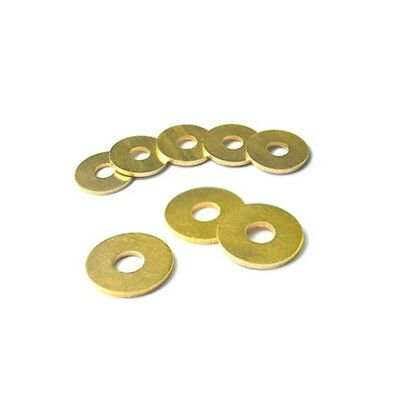 M2.5*5*0.4mm Flat Washers to Fit for Bolts & Screws Solid Brass