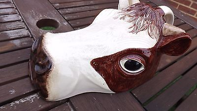 Ceramic cow cheese dish lid, vintage