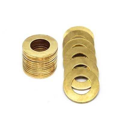 M3*7*0.5mm Flat Washers to Fit for Bolts & Screws Solid Brass