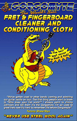 Gorgomyte Fret & Fingerboard Cleaner & Conditioning Cloth (3 packs!) Stock up!
