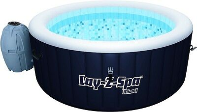 Lay-Z-Spa Hot Tub Miami Inflatable 4 Adults Massage Jets FAST FREE DELIVERY New