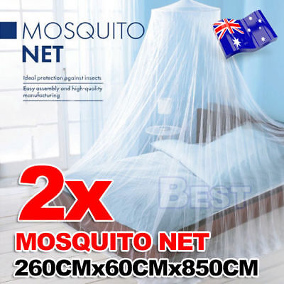 2x Double Single Queen Canopy Bed Curtain Dome Mosquito Net Midges Insect AU