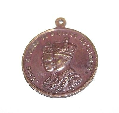 George VI & Elizabeth Commerative Medallion Their Majesty's Coronation VIC C1937