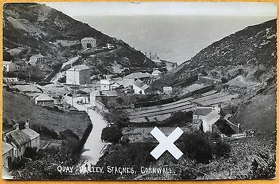 Rp Postcard. Quay Valley, St Agnes, Cornwall.