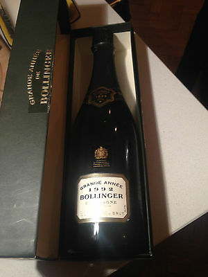 Ultra Rare Bollinger Grande Annee 1992 Champagne Boxed Full from private Cellar