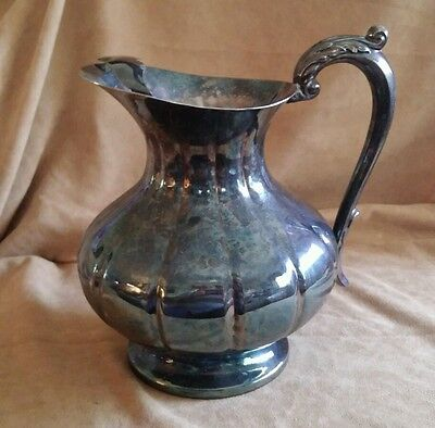 Silverplated Sheffield Silver Company Water Pitcher Server Pedestal Silver Plate