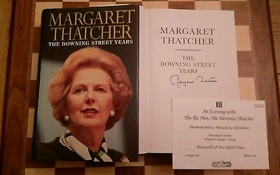 The Downing Street Years SIGNED Margaret Thatcher HB Book 1993 1st/1st + Proof