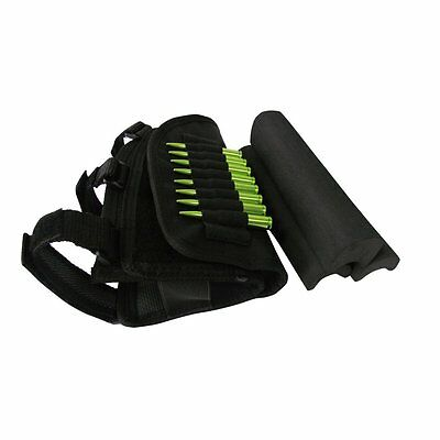 Rifle Buttstock Cheek Rest Shell Ammo Mag Cartridges Hold Pouch Tactical