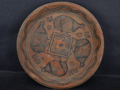 Ancient Large Size Teracota Painted Plate With Birds Indus Valley 2500 BC #Ik490