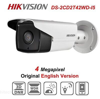 Hikvision DS-2CD2T42WD-I5 4MP IP Security Camera POE WDR IP67 IR 50m Network