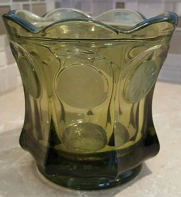 Fostoria Olive Green Coin Glass Candy Dish (No Lid)