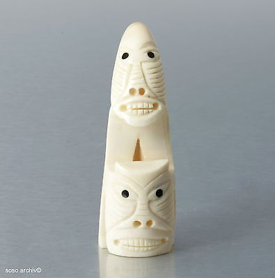 Inuit Art Natigateq Tupilak Grönland Native Art Eskimo Greenland Bone