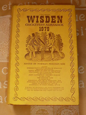 Wisden 1979 The 116th Hard back edition with its original Dust Jacket