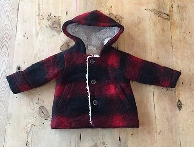 Kids Childs Baby Boys Warm Zara Winter Coat 3 To 6 Months Soft