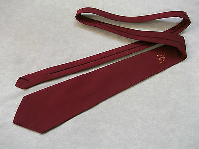 Vintage Red Wine Golf Emblem Club Tie 1960's 70's + Emery Of London +