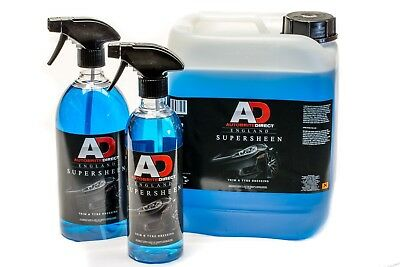 Autobrite Super Sheen trim and tyre dressing 500ml + MICROFIBRE+ air freshener