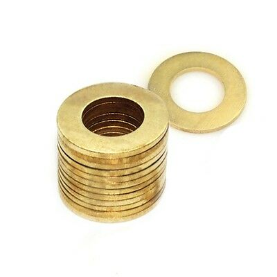 M12*24*1.5mm Flat Washers to Fit for Bolts & Screws Solid Brass