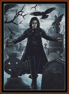 Cross Stitch Chart ( Pattern ) - THE CROW *CD Delivery*