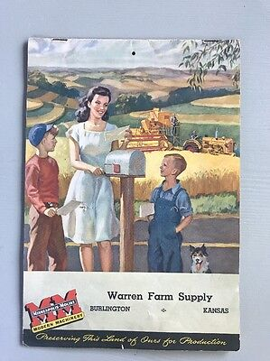 Vintage Minneapolis-Moline Farm Advertising Brochure 1945 Tractors Implements