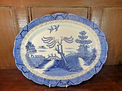 """Booths Silicon China/Royal Doulton REAL OLD WILLOW large PLATTER - 16.25"""""""